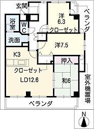 ブルーウェーブマンション[2階]の間取り