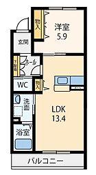 近鉄大阪線 大和八木駅 徒歩5分の賃貸マンション 3階1LDKの間取り