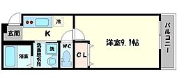 Osaka Metro谷町線 太子橋今市駅 徒歩7分の賃貸アパート 1階1Kの間取り