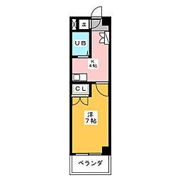 ドエル岩塚[4階]の間取り