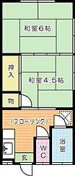 佐藤アパート[203号室]の間取り