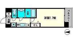 アドバンス大阪城シュアーヴ 11階1Kの間取り
