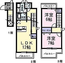 大阪府堺市西区浜寺石津町東2丁の賃貸アパートの間取り