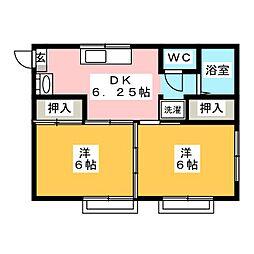メゾングッチ[2階]の間取り