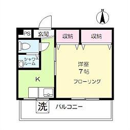 フラワーハイツ(大岡山)[4階]の間取り