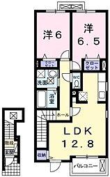 グリーンアンジュ1[2階]の間取り