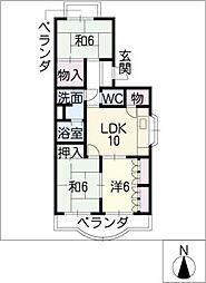 レジデンス内浦[2階]の間取り