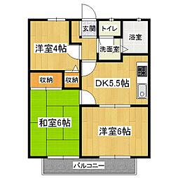 グランシャリオC棟[2階]の間取り