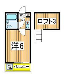 ジュネパレス江戸川台第1[104号室]の間取り