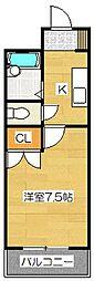 ウイングス学園通りS館[416号室]の間取り