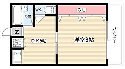 シャトー藤澤[310号室]の間取り