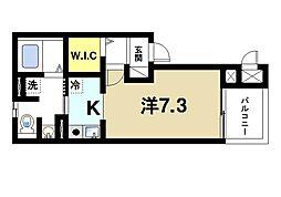 奈良県奈良市四条大路3丁目の賃貸アパートの間取り
