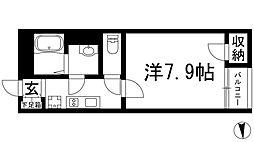 大阪府池田市神田4丁目の賃貸アパートの間取り