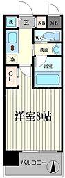 エスライズ北堀江スワン[4階]の間取り
