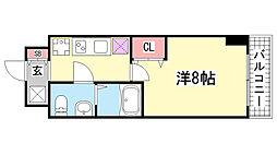 ラ・フォーレ長田[203号室]の間取り