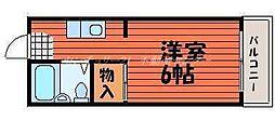 JR吉備線 備前三門駅 徒歩33分の賃貸アパート 2階1Kの間取り