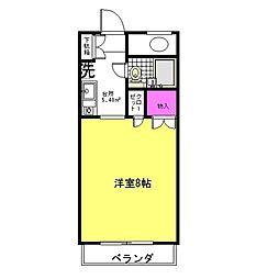 神奈川県座間市入谷5丁目の賃貸マンションの間取り