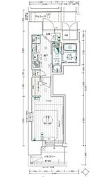 名古屋市営桜通線 高岳駅 徒歩7分の賃貸マンション 3階1Kの間取り