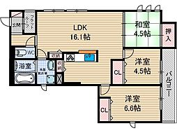 D-room新庄町[2階]の間取り
