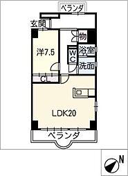 天神山マンションI号館[1階]の間取り