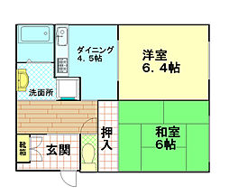 レックビル[2階]の間取り