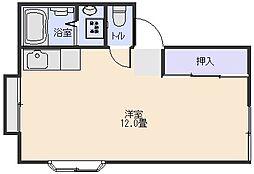 ナギサハイツII[101号室]の間取り