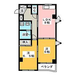 ハイムエクセル[5階]の間取り