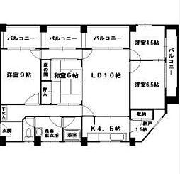 神奈川県横浜市中区松影町2丁目の賃貸マンションの間取り