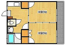 クリスタルハーモニー[7階]の間取り