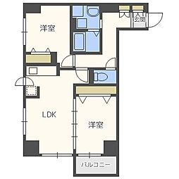 UURコート札幌南3条プレミアタワー[11階]の間取り