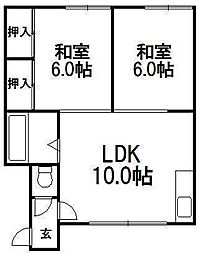 吉村マンション[2階]の間取り