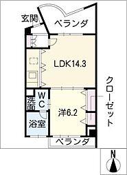 名古屋ASTONビル THE ASTON HOUSE[6階]の間取り