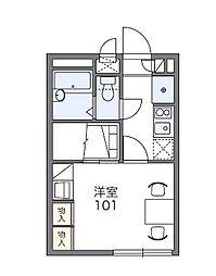三立ハイツA[1階]の間取り