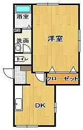 WORK田町[102号室]の間取り