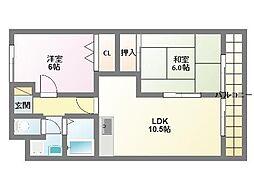 エスポワールASAHI[5階]の間取り