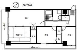 ファーレ神戸[5階]の間取り