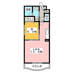 ラ・セーヌ[1階]の間取り