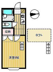 信開セルーラ駅南S[105号室]の間取り