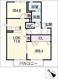 H・翔・ひまわり館[2階]の間取り