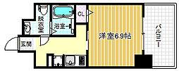 エイペックス北梅田[9階]の間取り