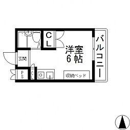 コーポタナベ[202号室号室]の間取り
