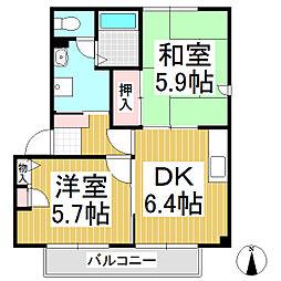 サンライズ21 A棟[1階]の間取り