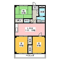 メゾン46[3階]の間取り