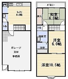 [一戸建] 大阪府守口市東光町3丁目 の賃貸【/】の間取り