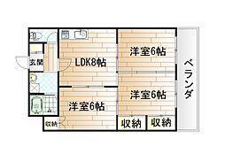 井堀ハイツ[1階]の間取り