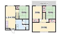 コンフォート長田[2階]の間取り