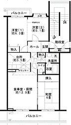 UR小金台[5階]の間取り