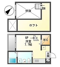 リーフアベニュー[1階]の間取り