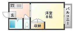 岡山県岡山市南区芳泉2丁目の賃貸マンションの間取り