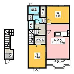 シプリエールC[2階]の間取り